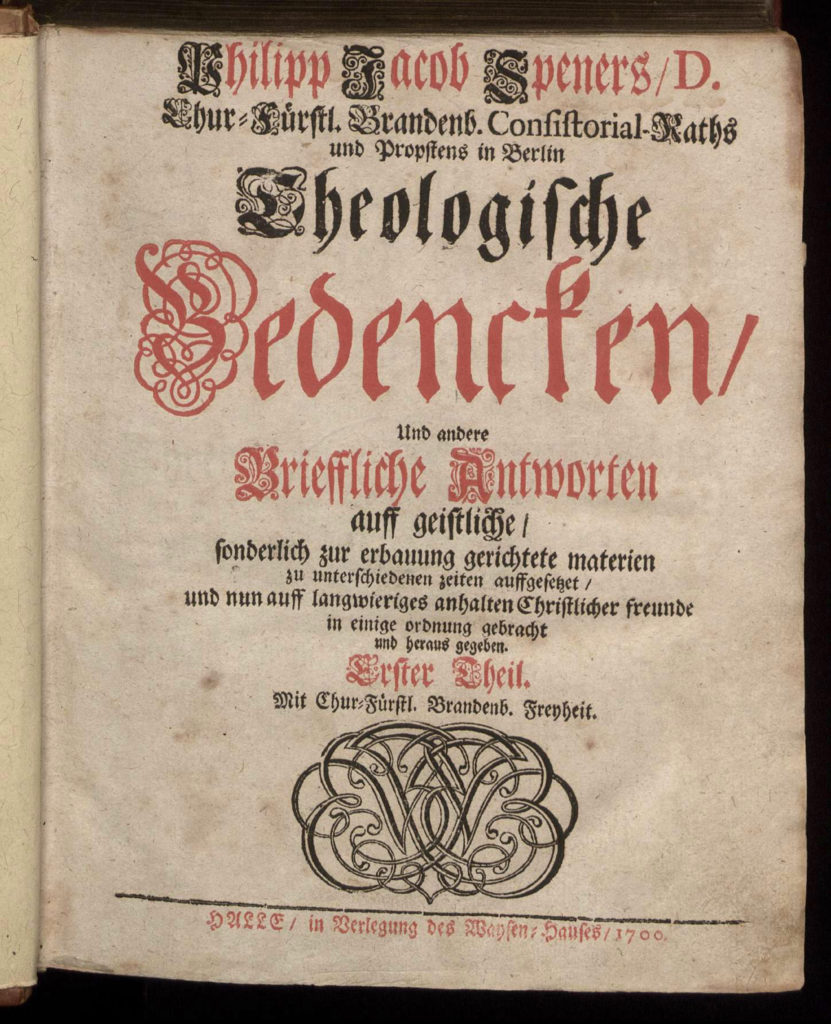 Title of Speners Theological Bedencken
